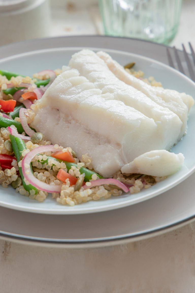 Donegal catch cof fillet with bulgar wheat and vegetables recipe