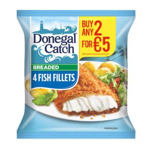 4 breaded fish fillets