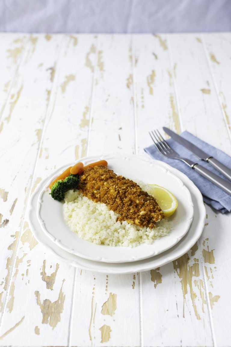 Donegal catch Natural Haddock topped with Red Pesto Crumb