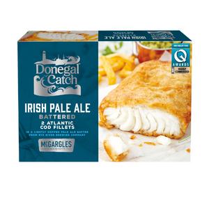 2 Donegal Catch Irish Pale Ale Battered Atlantic Cod Fillets