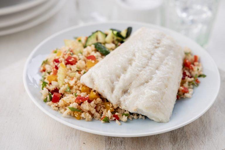 Donegal Catch Whiting served with Vegetables and Fried Rice