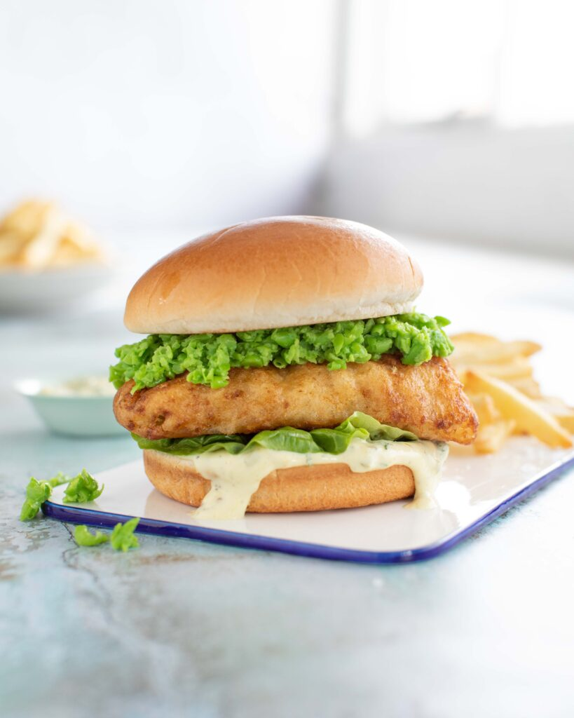 Donegal Catch the best fish burger made with batter haddock and chips