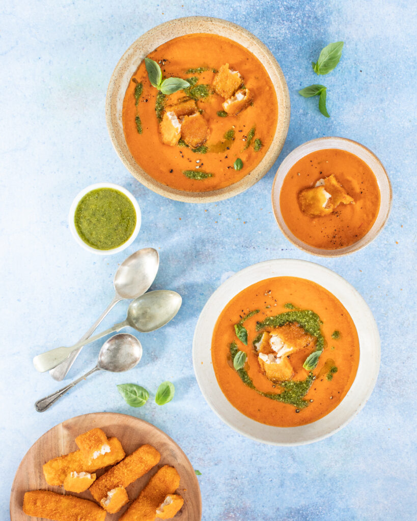 Omega 3 Donegal Catch Fish Finger Croutons in Soup-er Simple Tomato Soup