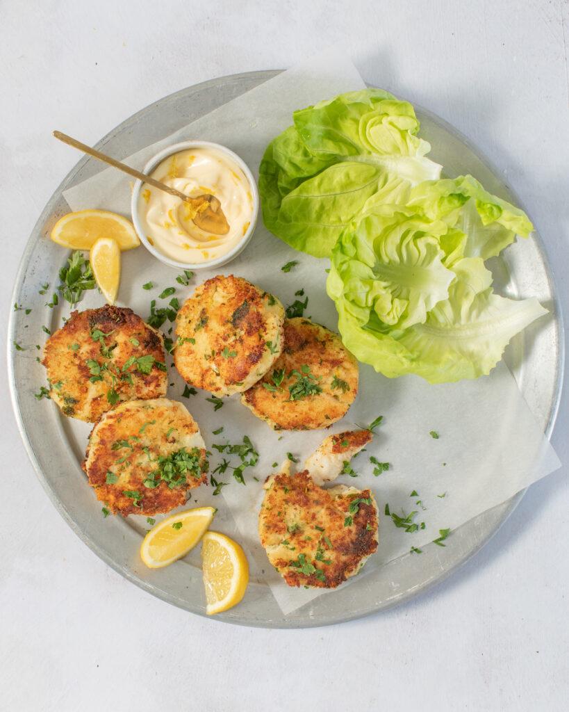 1. Haddock Fish Cakes with Lemon Mayonnaise