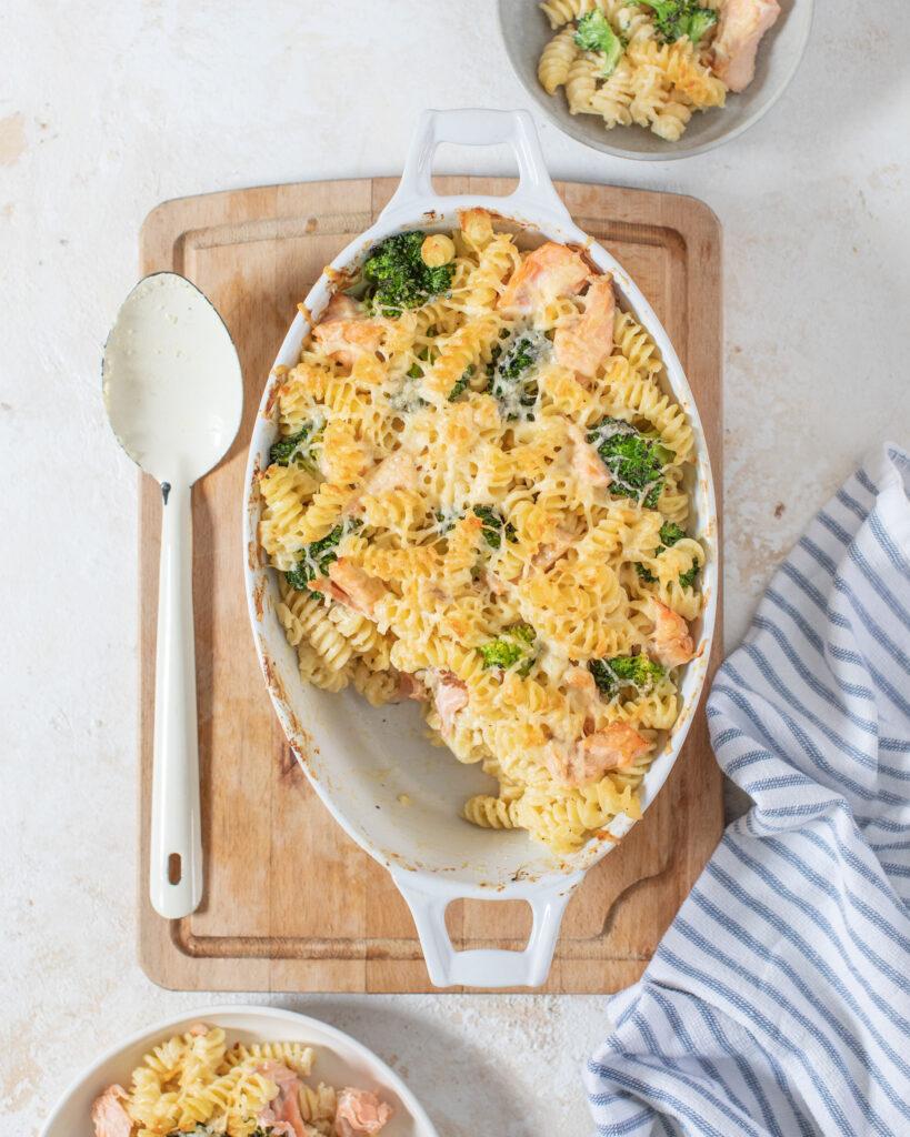 9. Salmon & Broccoli Pasta Bake