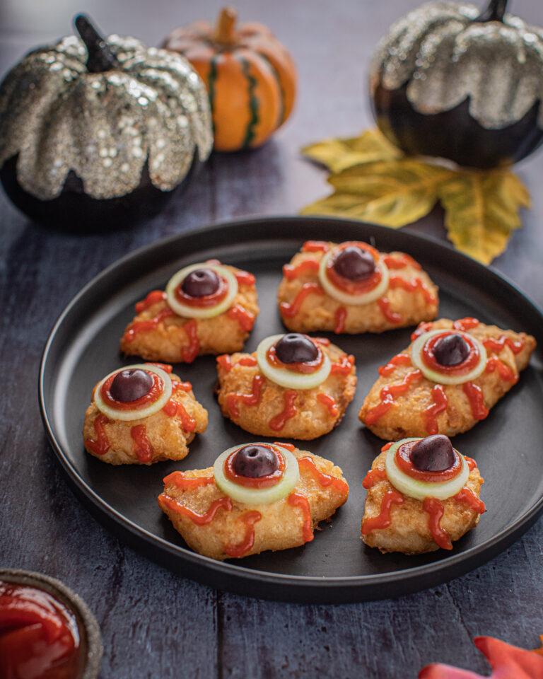 Donegal Catch Salt and Vinegar Haddock Bites Halloween Eyeballs